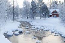 Schöne Winter Landschaften