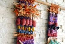 fiber: spin, knit + weave / Knitting, spinning, pompoms...fiber.  Texture, color, patterns, ideas, etc!