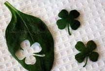 lucky. / irish / st. patrick's day board.  crafts, decoration, etc.