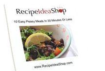 Recipe Idea Shop FREE Gifts / Free cookbooks and kitchen organization lists.