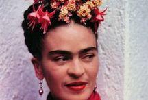 A La Frida Kahlo / Homage to Mexican master painter Frida Kahlo.