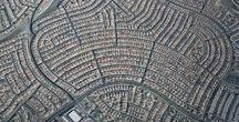 urban planning / amazing aerial view of cities and towns