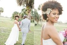 Black & Natural Wedding Hair Ideas / Wedding hair inspiration for black brides, black women and brides of colour with relaxed hair, natural hair, extensions and long locks!