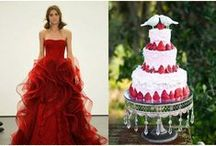 Red Wedding Theme / Red ideas and themes for wedding venue decorations, bridal accessories and stationery