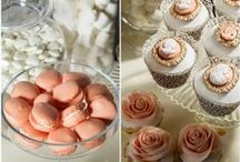 Peach Wedding Theme / Peach ideas and themes for wedding venue decorations, bridal accessories and stationery