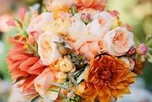 Orange Wedding Theme / Orange ideas and themes for wedding venue decorations, bridal accessories and stationery