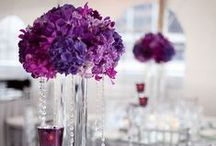 Purple Wedding Theme / Purple ideas and themes for wedding venue decorations, bridal accessories and stationery