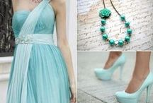 Mint Wedding Theme / Mint ideas and themes for wedding venue decorations, bridal accessories and stationery