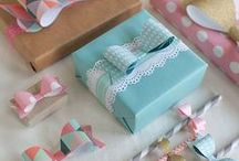 Pretty Packaging / pretty ideas for decorating and wrapping packages for gift giving
