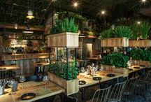 Restaurant Design / Beautiful restaurant interiors.  Design inspiration