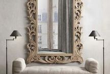 Interior Design| Mirrors / Beautiful and unique mirrors for every room in your home: Design details and  accessory styling ideas.