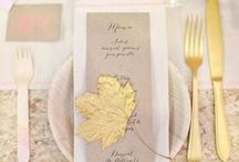 Metallic Gold, Silver and Sparkles Wedding Inspirations / Gold, silver and sparkley metallic wedding items