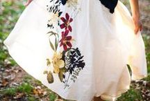 Floral Wedding Dresses - Casual or Formal / when the main theme of the dress is floral - it will most likely end up here!