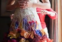 Colorful Wedding Dresses / who says you have to wear white?!