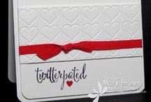 Valentines / Love to make your own Valentines? Stampin' Up has many stamp sets to choose from that help you make Valentines quickly and effortlessly. Request a free catalog today! Email catalogs@aworkofcarte.com or visit my website: aworkofcarte.com/catalogs