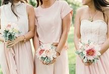 Pink Wedding Inspirations / All pinks, but a lot of lovely pale pale pink, my favorite.