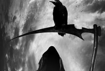 """Death and the Raven / """"The boundaries which divide Life from Death are at best shadowy and vague. Who shall say where the one ends, and the other begins?""""   ~Edgar Allen Poe, """"The Premature Burial"""" (story inspiration)"""