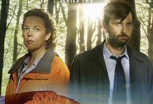 """Fandom - Broadchurch / """"A town wrapped in secrets"""" - fabulous, dark and gripping British crime drama focused on a murder investigation in the small town of Broadchurch, led by Detectives Alec Hardy and Ellie Miller. Gorgeous cinematography and haunting music score. Check it out - """"the end is where it begins"""".*"""