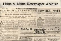 Historical Newspapers / Old newspapers are a must-have genealogy resource for family historians. Along with birth announcements, wedding notices and obituaries, historical newspapers provide stories about your ancestors' daily lives that you won't find anywhere else. Rely on these old newspaper articles to find out more about your ancestors and the times they lived in. / by Genealogy Bank