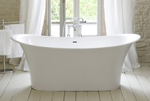 Bathrooms / Light, white and bright bathrooms.  Farmhouse and cottage style bathrooms.