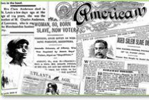 African American Genealogy / Are you researching your African American ancestry? These African American genealogy resources can help you with your family history searches, providing vital records, newspaper articles, search tips and more to trace your black roots back to the earliest days of America.  / by Genealogy Bank
