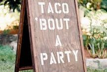 S I G N S / Fun and beautiful signage inspiration for your party