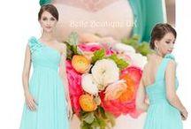 Aqua & Turquoise Bridesmaid Dresses