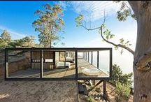 ARCHITECTURE : Retreats + Modular Prefabs [Water + Trees] / Architecture in Nature [Lake / Seaside + Forests / Woods]