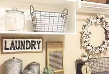 Laundry Room Makeovers and Decor