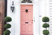 Curb Appeal | Front Door Decor | Painted Doors