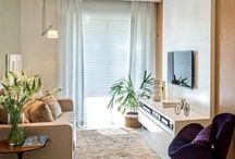 Decoração - Salas Estar/TV / Uma galeria com muitas decorações de salas de jantar  para você se inspirar na hora de decorar a da sua casa e/ ou apartamento.