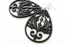 Lazer Cut Wooden Earrings / These earrings are made of thin, light weight lazer cut wood.  / by Mary Grace Jewellery