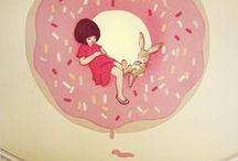Dounuts / Its just that I think donuts are cute.