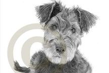 Airedale / by Jan L. | fourharpdesigns