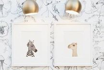 {art for littles} / Decorate their spaces.
