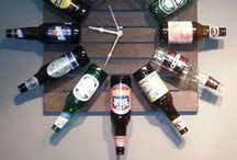 {Para fazer com garrafas vidro} / Ideias para reaproveitar garrafas de vidro que seriam descartadas na decoração da casa, em festas, eventos , comemorações