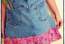 {Como reaproveitar Jeans} / Ideias para reaproveitar jeans velho