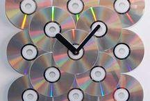 {Para fazer com cds} / Ideias para reaproveitar cds velhos e decorar a casa com estilo  único e de modo sustentável