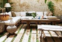 Outdoor Spaces / Inspiration for outdoor spaces like gardens, pool areas, patios, verandas, porches, and more.