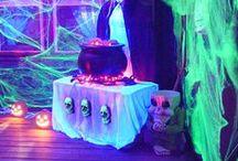 Halloween Blacklight UV Ideas and Decorations