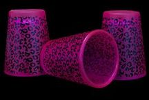 Blacklight Party Tableware and Serving / Neon Tableware for Blacklight Parties