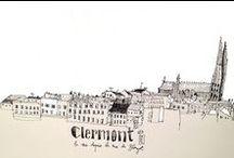 Clermont city / Coups d'oeil sur la capitale des gaules. #dessin #photo #design #crayon #insta