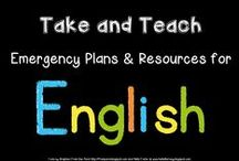 Take and Teach - English / More ideas and resources to accompany my Take and Teach pack for relief/supply teachers.