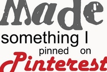 Pinterest Stuff I've Actually Done!!
