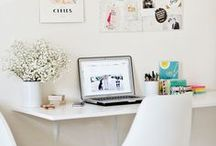 Home Offices / Stunning desks and home offices to inspire! What's a girl boss without a gorgeous office to make magic in? // entrepreneur, home decor, office organization, filing, office ideas, work from home, blogger, blog