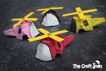 """Kids - Recycle Crafts / Projects for school-age kids using recycled materials.  Let's """"up-cycle""""!"""