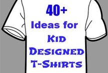 Kids - T-Shirt & Tennis Shoes / There are so many things you can do with kids to make creative t-shirts or even make things out of recycled t-shirts.  Also included are some fun ideas for sprucing up your tennies.