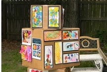 """Kids - Art, Displaying Kid's Art / It's Art Show Time!!! Here are some ideas for displaying your kids' art.  Also, take a look a """"Kids - Bulletin Boards"""" for more ways to display art."""