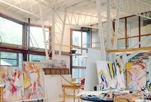 • studio + workspace + gear • / studios + workspaces