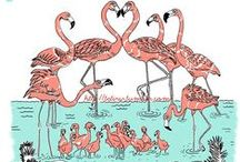 All Things Flamingo / Flamingos...watch for it...board will be split up as it's gotten too big to handle...See Flamingos: Stuff to Wear / by Candie Vaughan